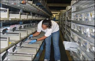 Flat sorting machines at USPS distribution centers
